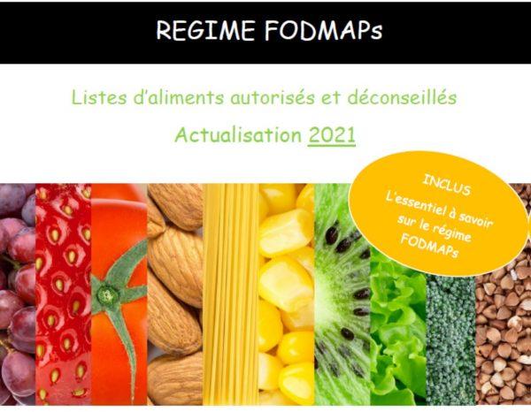liste aliments riches et pauvres fodmap 2021