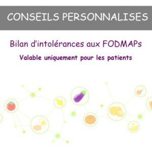 BILAN D'INTOLERANCES AUX FODMAPs