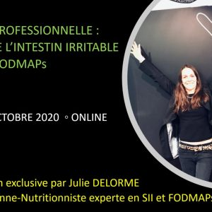 FORMATION PROFESSIONNELLE ONLINE SYNDROME DE L'INTESTIN IRRITABLE & FODMAPS 23 octobre 2020
